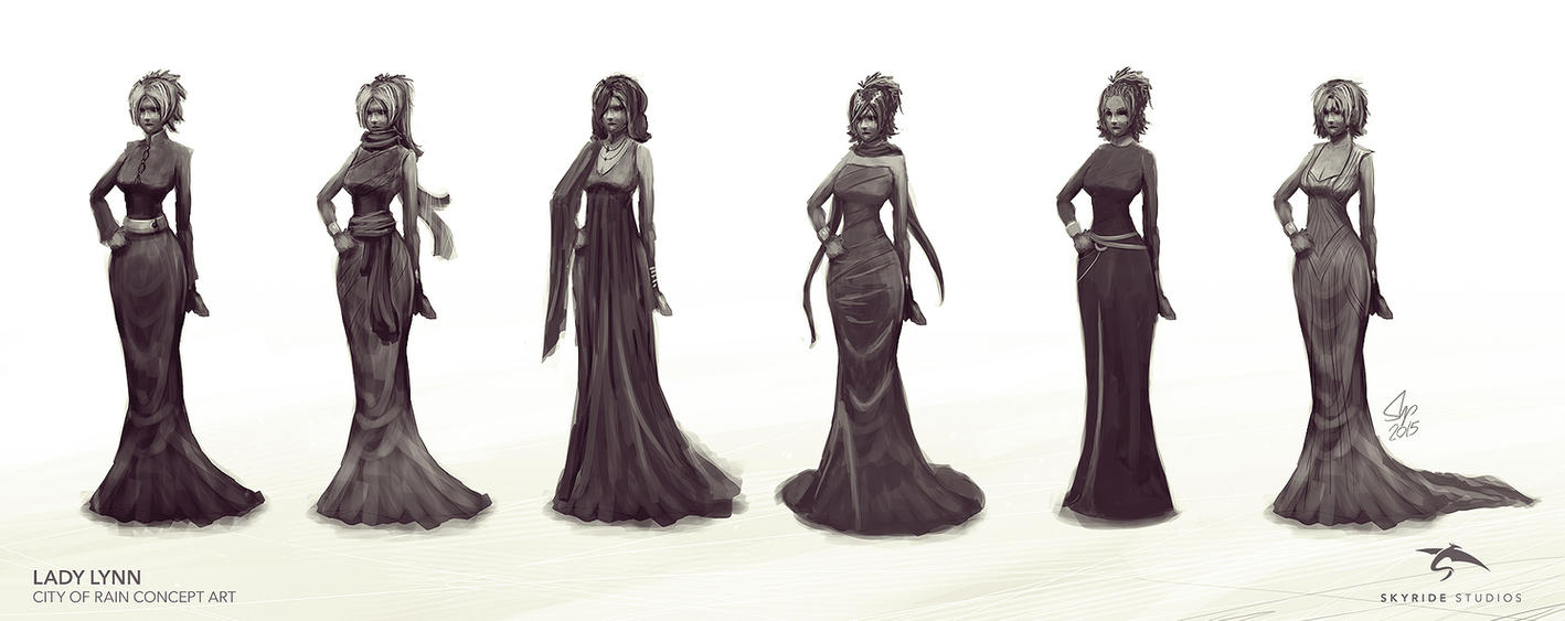 Lady Lynn Concept Sketches by slipled
