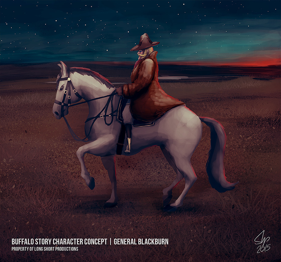 General Blackburn and his Horse by slipled