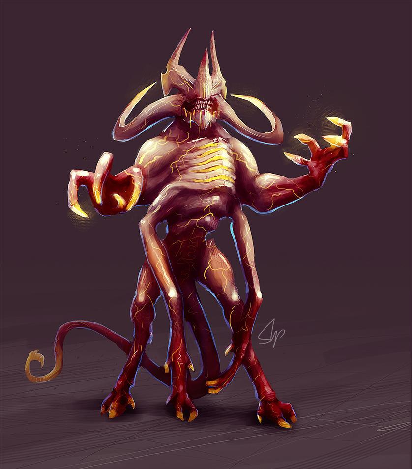 Giant Kreesh Demon by slipled