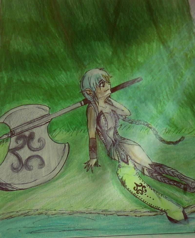 Warrior Elf by Luxchaaan