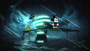 mickey mouse escaped