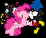 Mickey x Pinkie pie and Minnie, velentine's day by fanvideogames