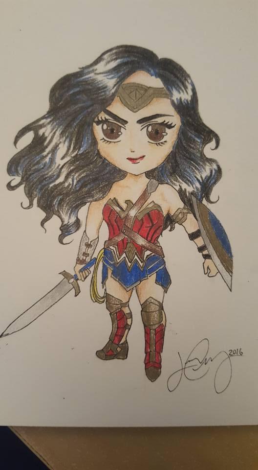 Chibi Wonder Woman by itsJoJoChiang on DeviantArt