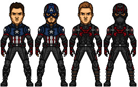 James Buchanan Barnes and Steve Rogers by jclifford0301