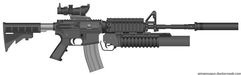 M4A1 with M203 Grenade Launcher by julianwong35 on DeviantArt