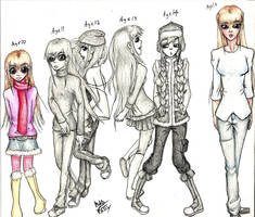 Age 8 to 16 by StygianRecluse