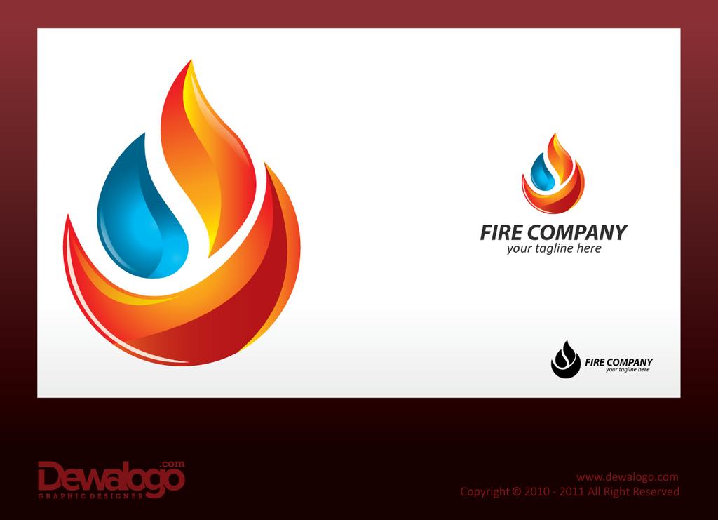 3d Logo Fire by dewaaa...Y Logo 3d