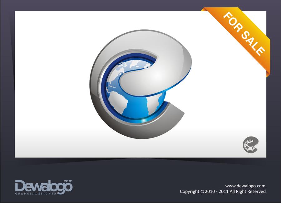 e Letter Logo 3d 3d Logo 2 e Worlds by