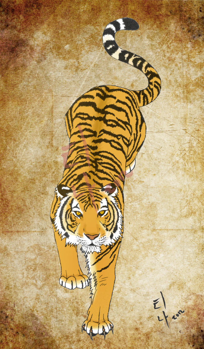Korean Tiger Tattoo by Wolfvixyn on DeviantArt