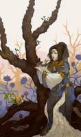 Pondering Tree by Salacia-of-Vanadiel
