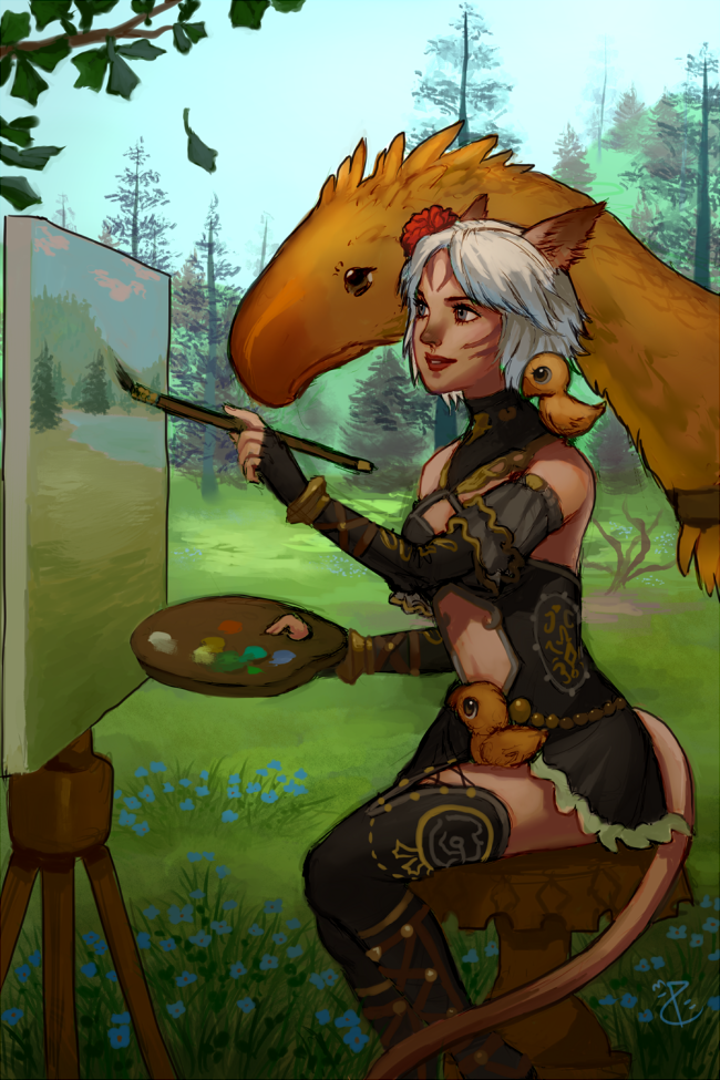 Painting with Friends by Salacia-of-Vanadiel