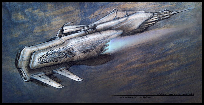 Spaceship design 4 by vepsart on deviantart for Spaceship design