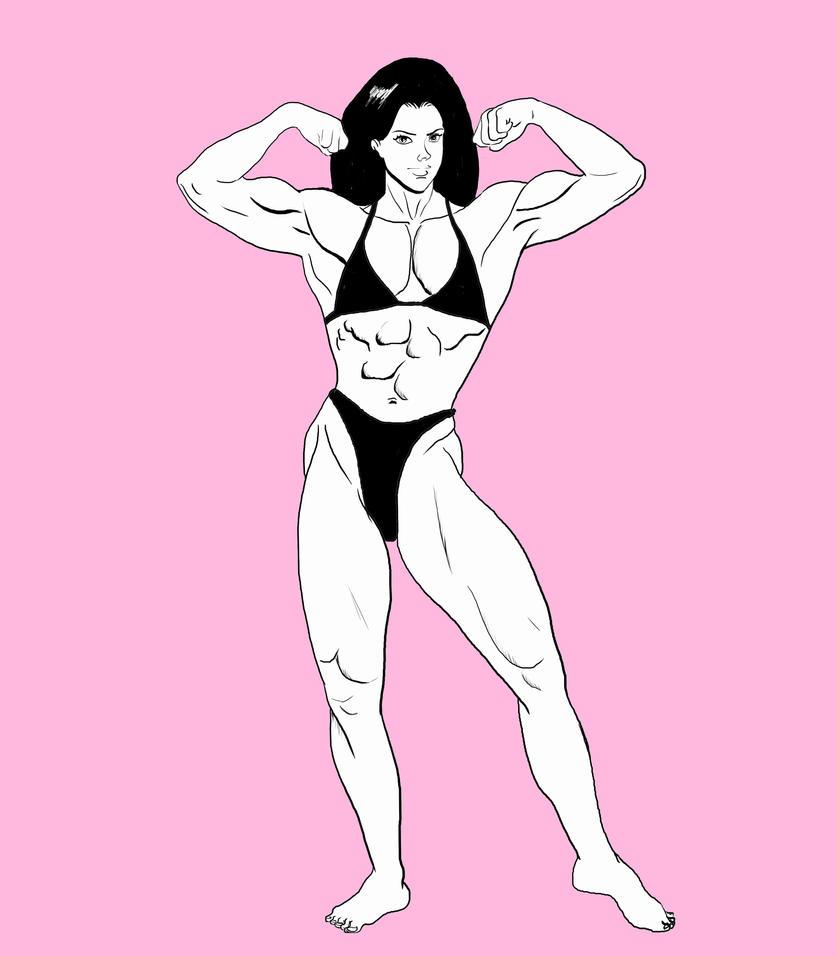 Sharon Bruneau by Muscle-Venus