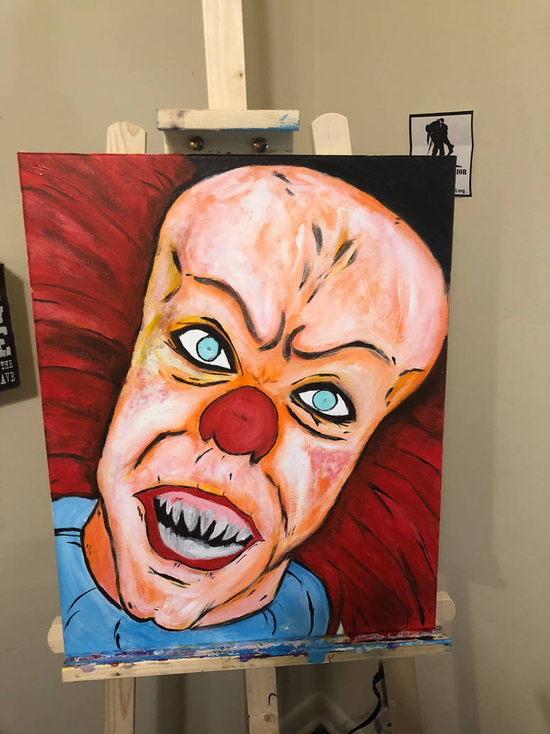 Pennywise Painting: Part 2 by SquidXIII
