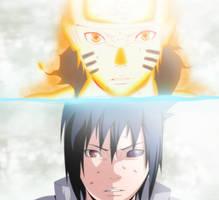 Naruto 696 - TWO PATHS / Naruto and Sasuke by kurai-akarui