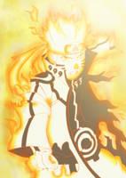 GO! MINNA, KURAMA!! / Naruto Bijuu Mode by kurai-akarui
