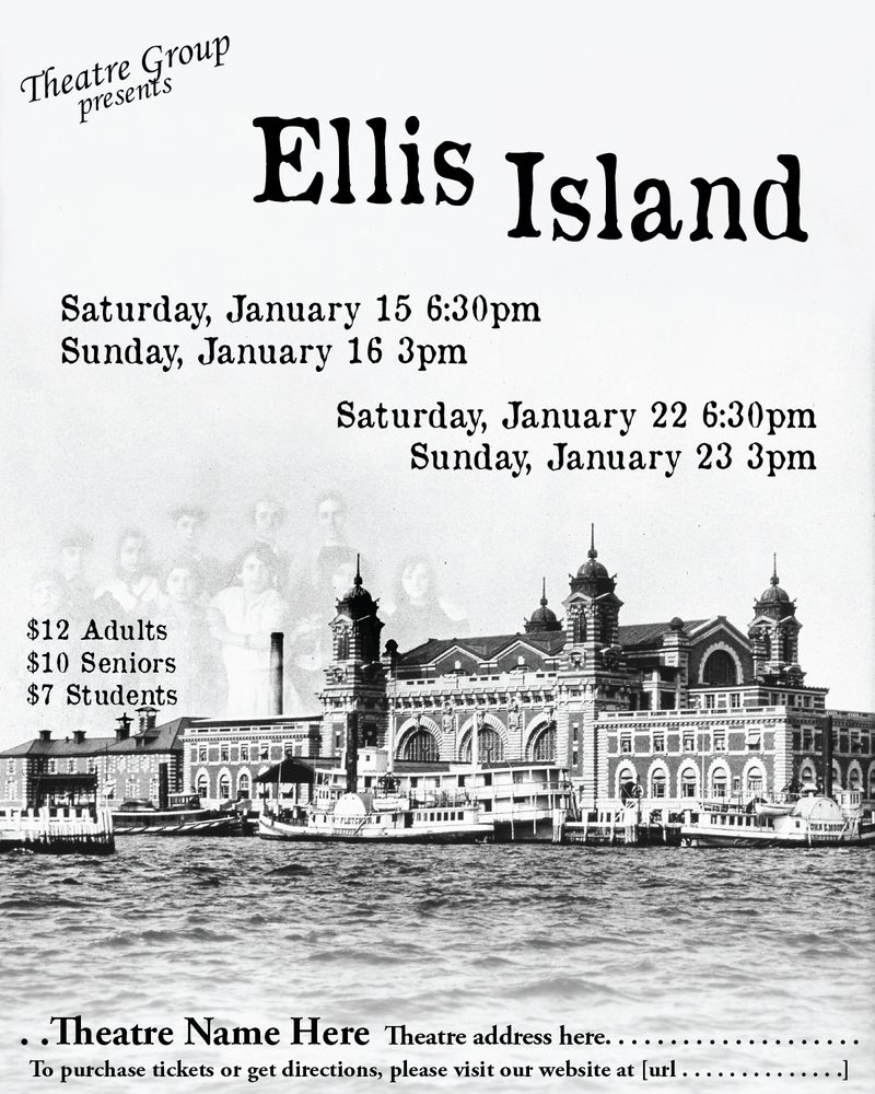 Ellis Island poster by katyanoctis