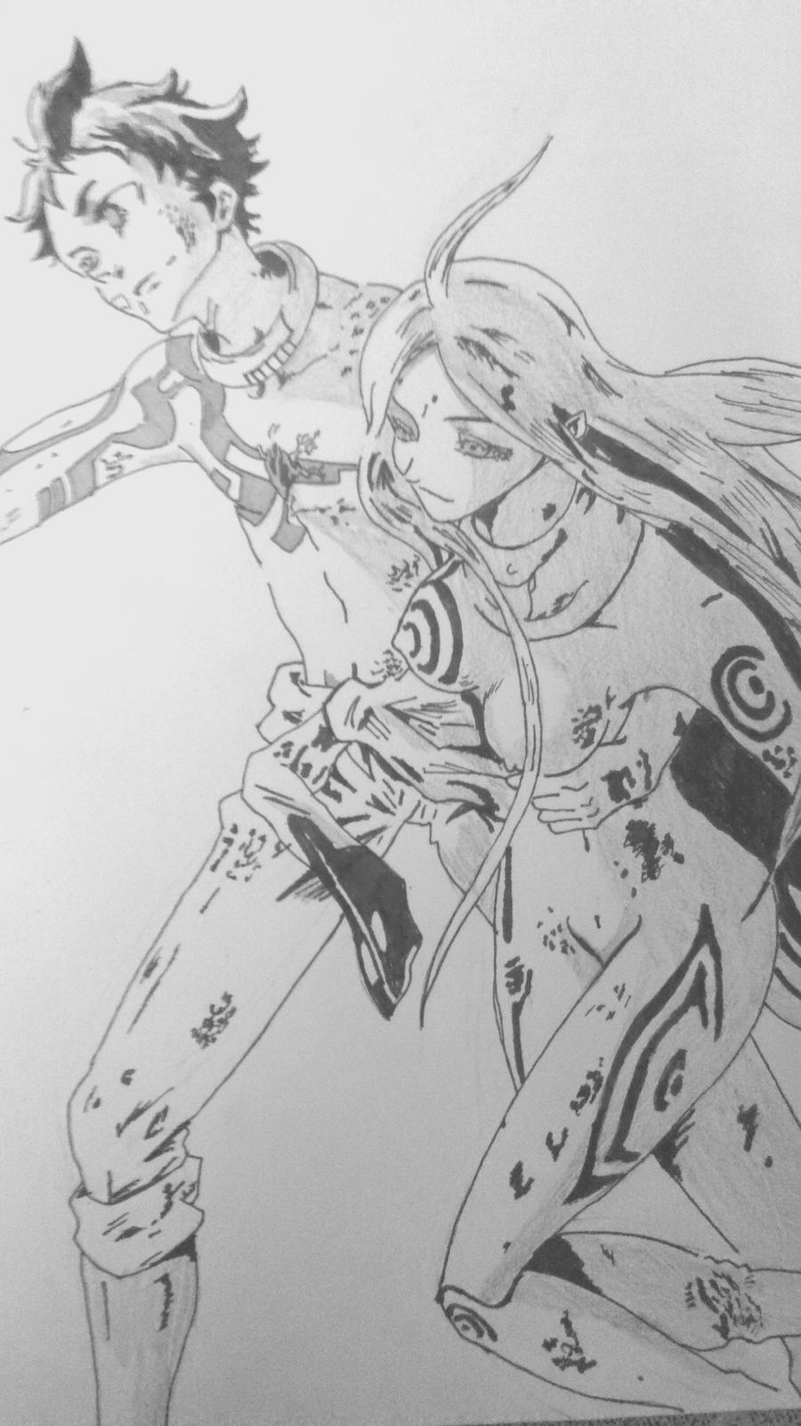 ganta x shiro by yue093