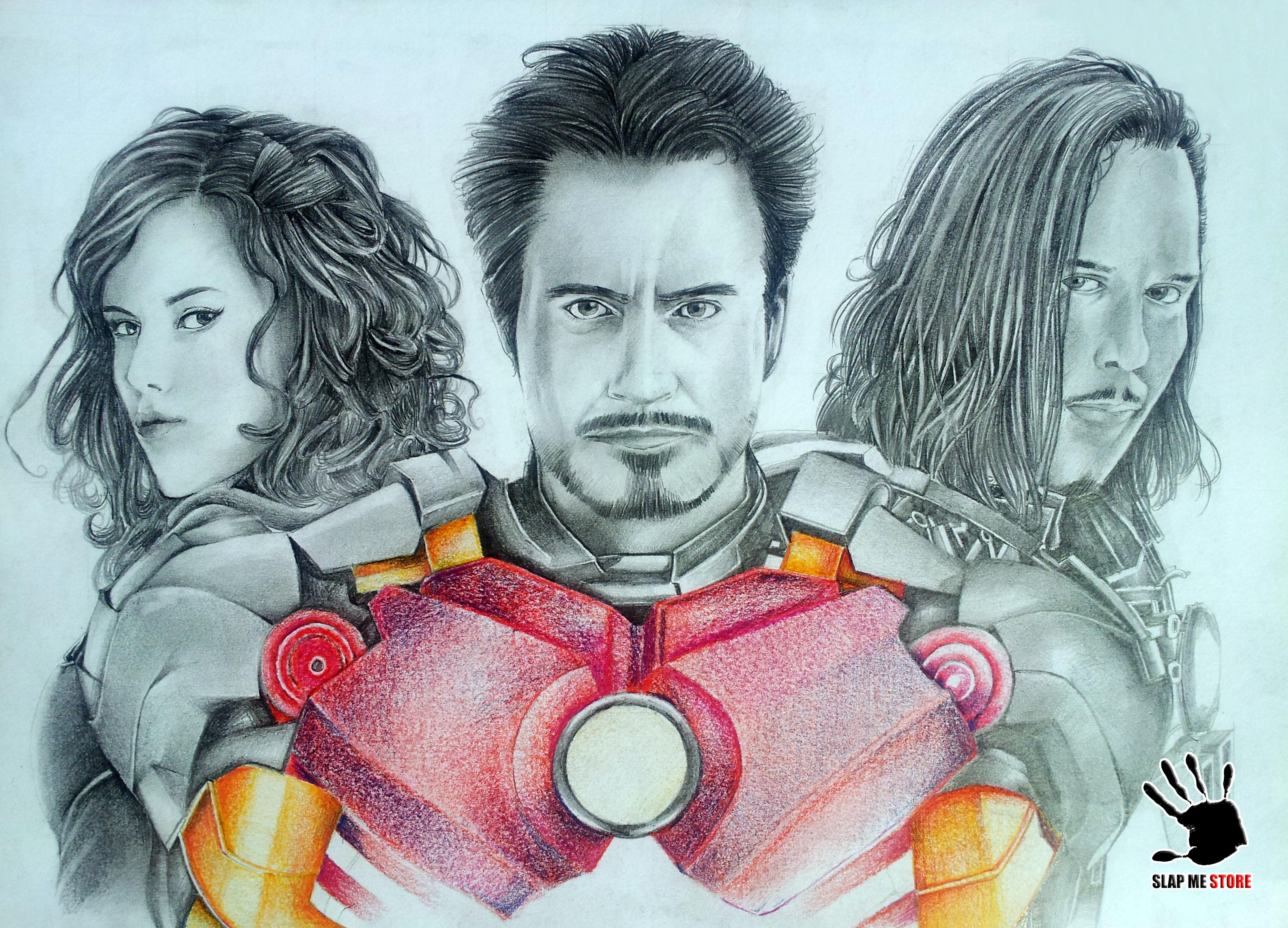 Iron Man 's Drawing by amerakat