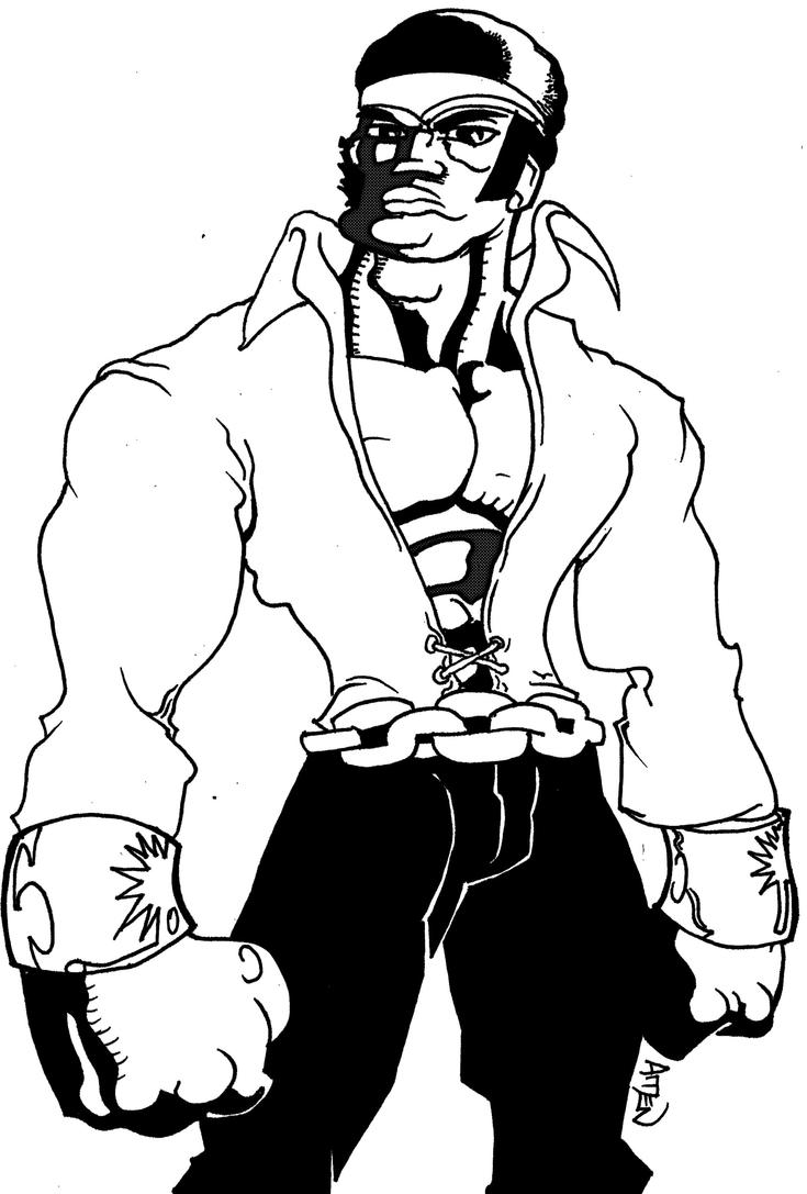 Luke Cage Coloring Pages Sketch Coloring Page