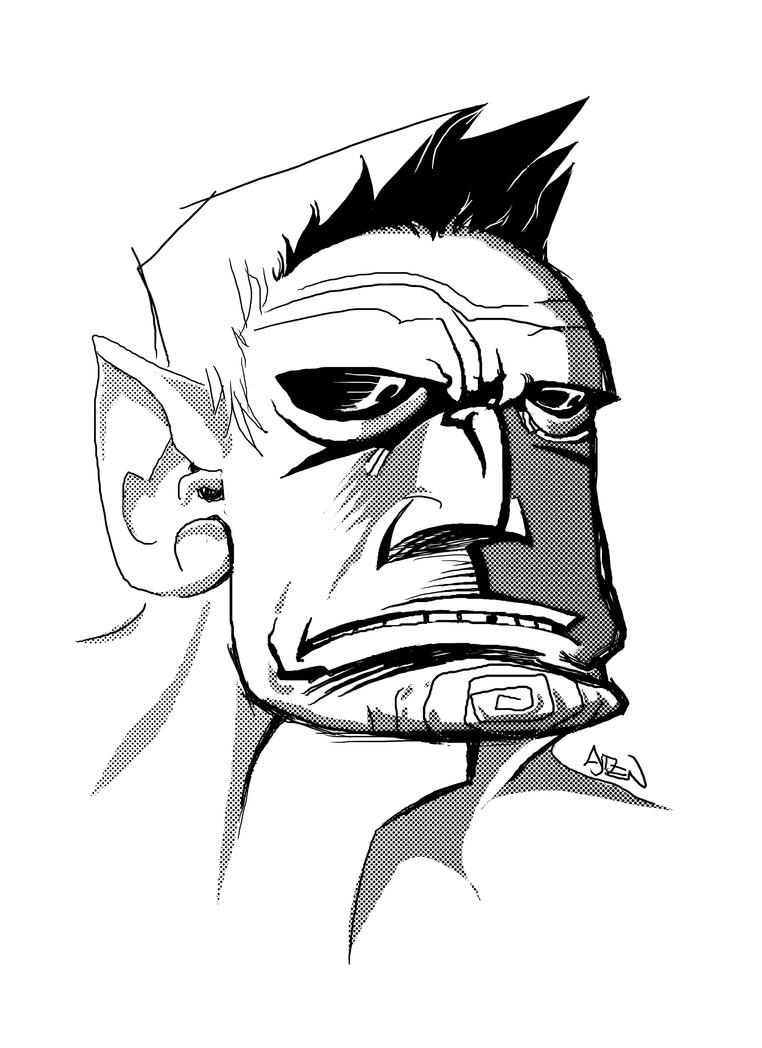 monsterface sketch by samax