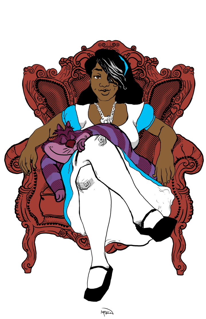 Bianca in Wonderland color by samax