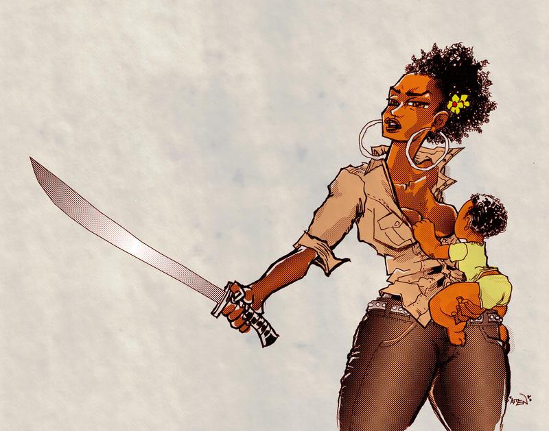 Warrior Queen Mother by samax