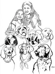 Daughters and Dogs by samax