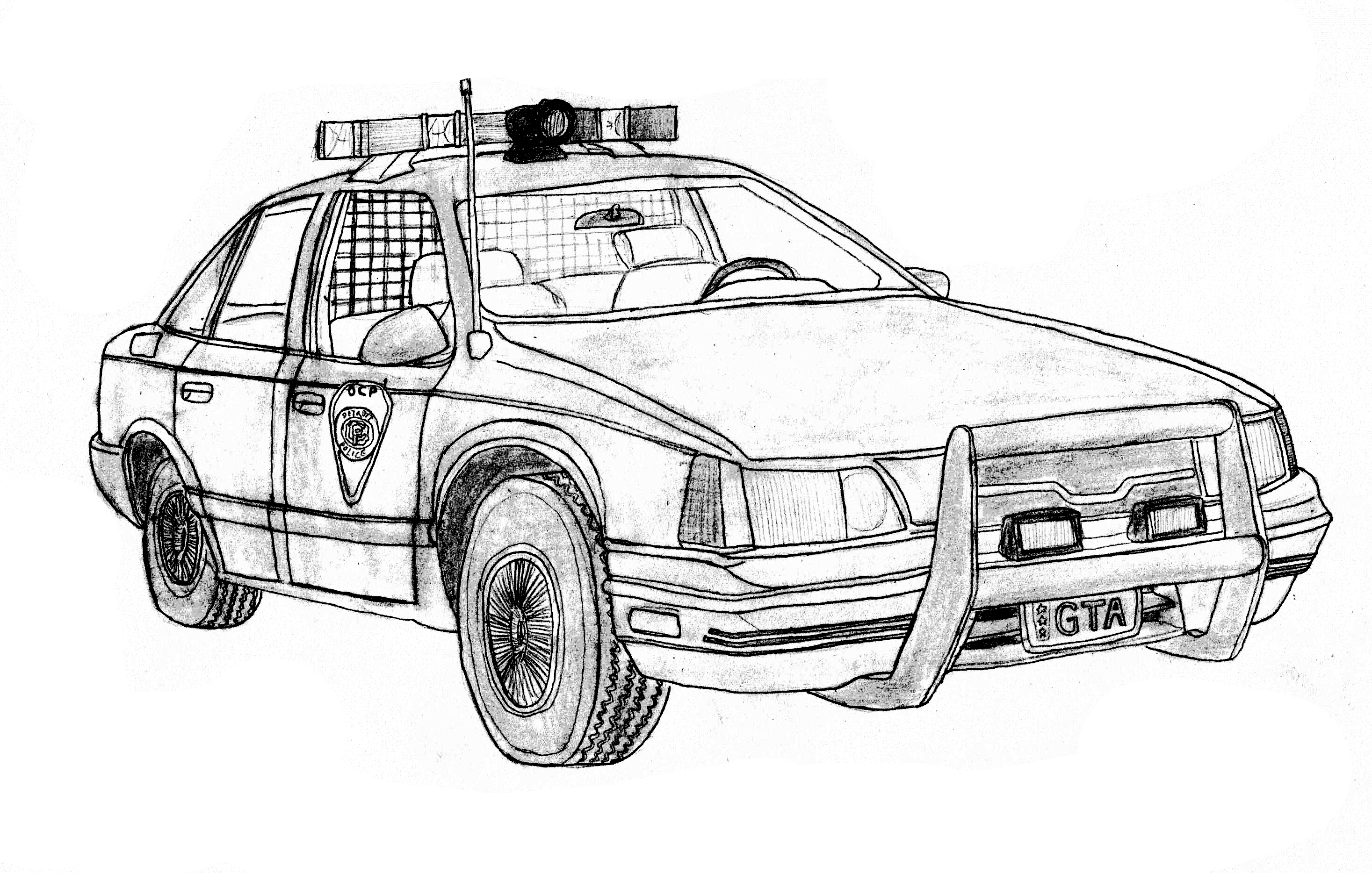 robocop ford taurus police car by dandelo1 police car coloring pages - Police Car Coloring Pages