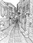Alleyway, Todi, Italy