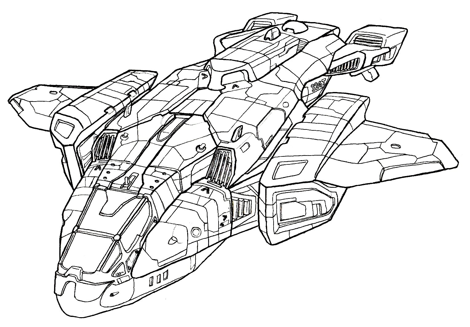 Halo 5 Coloring Pages Halo Vehicles Coloring Pages  Murderthestout