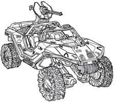 M12 Force Application Vehicle (Warthog) by Dandelo1