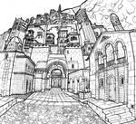 Street and Gate - Minas Tirith, Gondor
