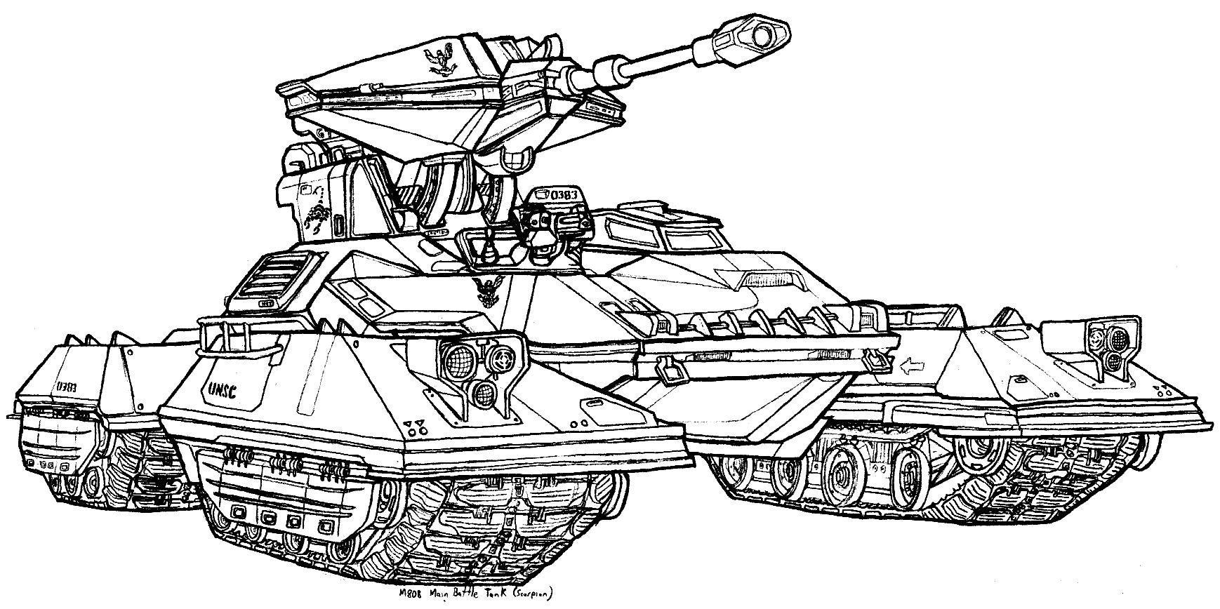 M808 main battle tank scorpion by dandelo1 on deviantart for Tank coloring page