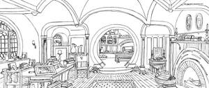 Bag End (Interior) - Hobbiton, The Shire