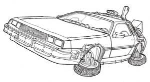 DeLorean DMC-12 Time Machine - Back to the Future