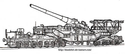 1938 Railway Gun TM-3-12 (305 mm) by Dandelo1
