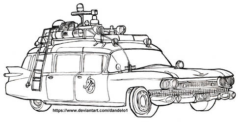 Cadillac Miller-Meteor 1959 - Ecto 1 Ghostbusters