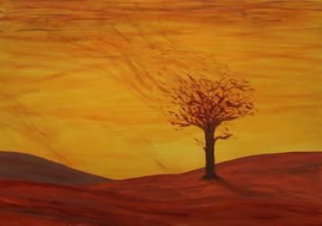 Burning Tree 5 by Whatawasteoftalent