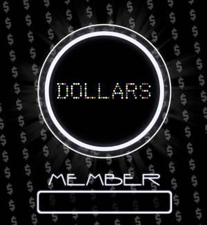 Dollars member card.