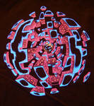 Exploding Sphere UV Print