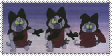 Three Blunderers/Cat Assassins Stamp by ChibiEvilCupcake