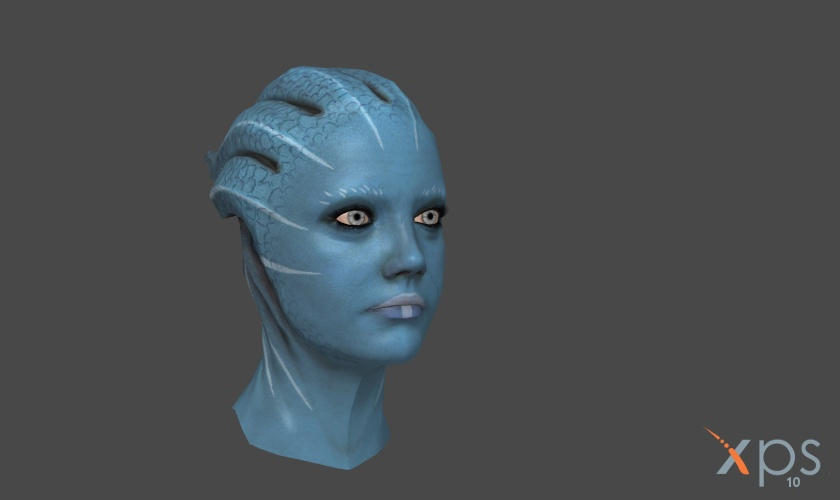 customizable asari face graphic by Taleeze