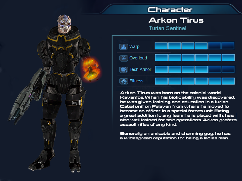 ME Multtiplayer OC part 3: Turian Sentinel by Taleeze