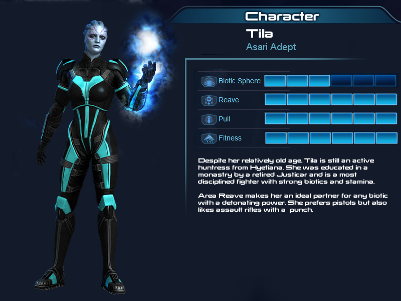 ME  Multiplayer OC part 5: Tila, Asari adept by Taleeze