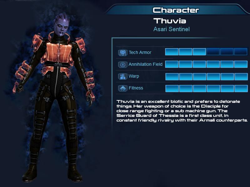 Multiplayer OC part 7, Thuvia, Asari Sentinel by Taleeze