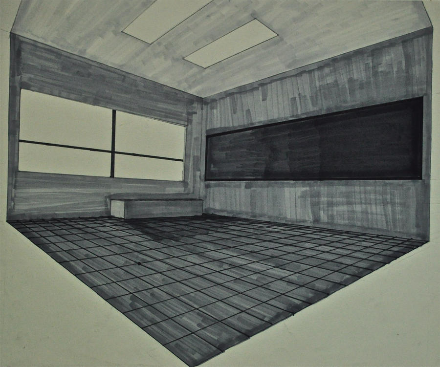 Point Perspective Room Seting Eye Level