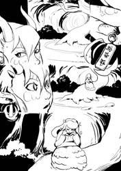 Eights vs. Miwesa unfinished EnterVoid comic pg2