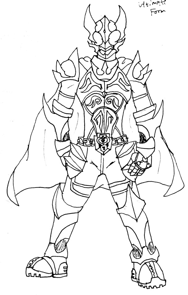 Kamen Rider W Coloring Pages