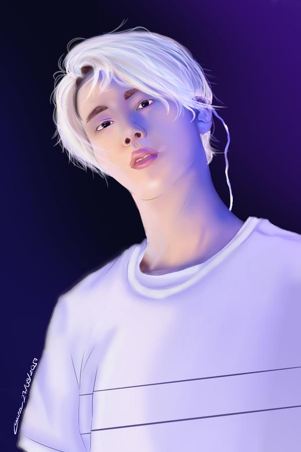 Realistic Drawing Of Kim Seok Jin By Mizorebusujima On